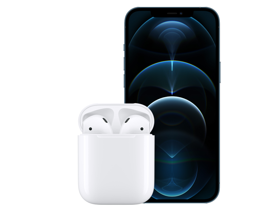 Apple-iPhone-12-pro-max-blue-wAirPods